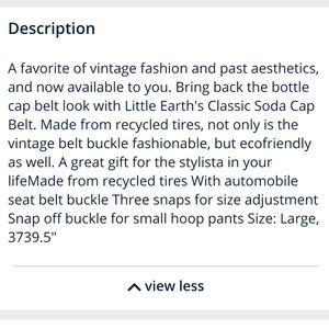 Little Earth Accessories - Little Earth Bottle Cap Belt